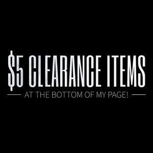 Tops - $5 Clearance Items!